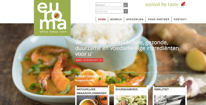 De site van Euroma.