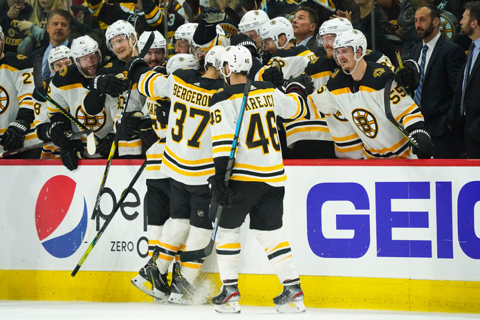 De Boston Bruins vieren feest in Raleigh.