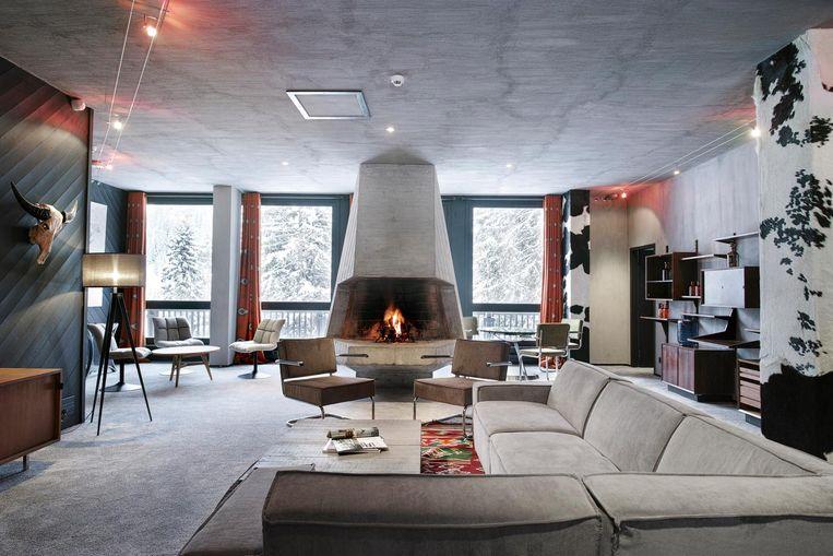 Loft van Marcel Breuer voor grotere gezelschappen in hotel Totem. Beeld L. di Orio