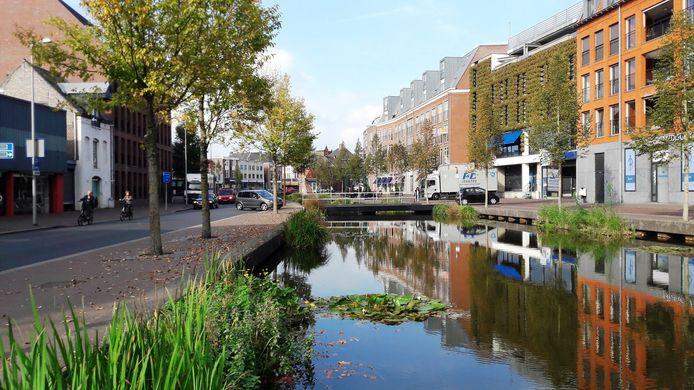 Groene gevel aan de Barones in Breda.