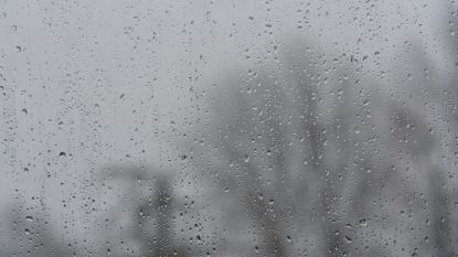 Vandaag kans op winterse buien en een donderslag