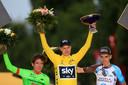Froome wint de Tour van 2017, voor Uran en Bardet.