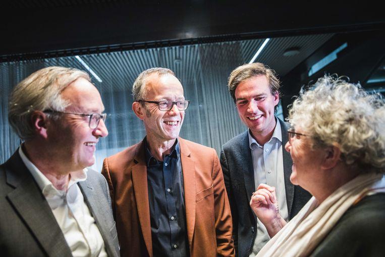 Voorstelling van het nieuwe stadsbestuur met Mathias De Clercq als burgemeester.