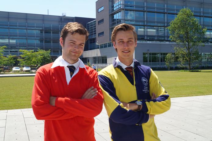 Jeroen Jansen (links) en Tim Jansen.