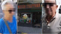 Restauranthouder achtervolgt en filmt tafelschuimers