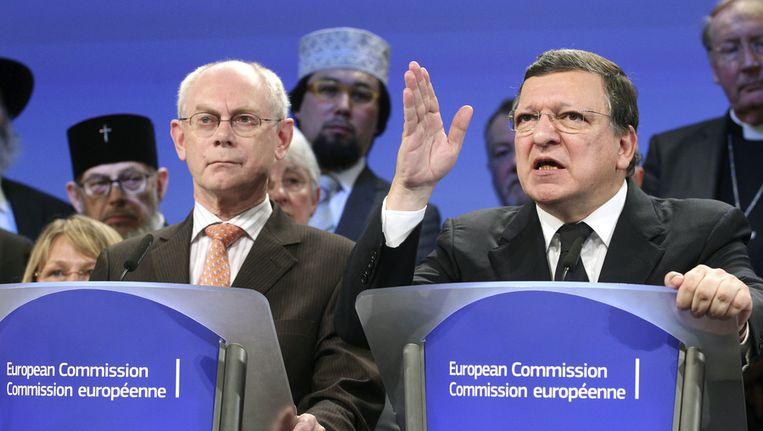 Barroso en Van Rompuy. Beeld ap