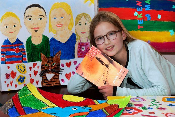 De tekening van Malin van Gastel uit Culemborg staat in De Ickabog, het nieuwe boek van J.K. Rowling.