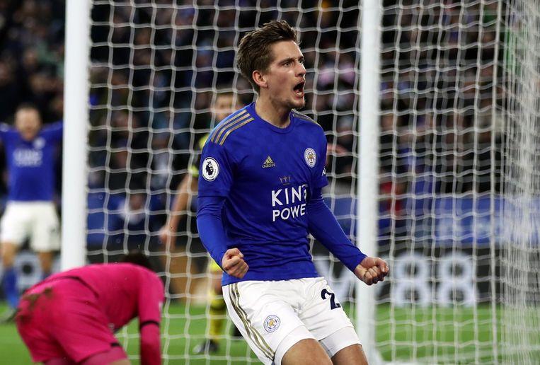 Praet (25) profiteerde van de dip van zijn collega-Rode Duivel Youri Tielemans. In de veertiende minuut maakte hij zijn eerste in de Premier League