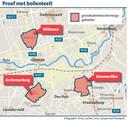 Kaart van de grondwaterbeschermingsgebieden rond Ommen.