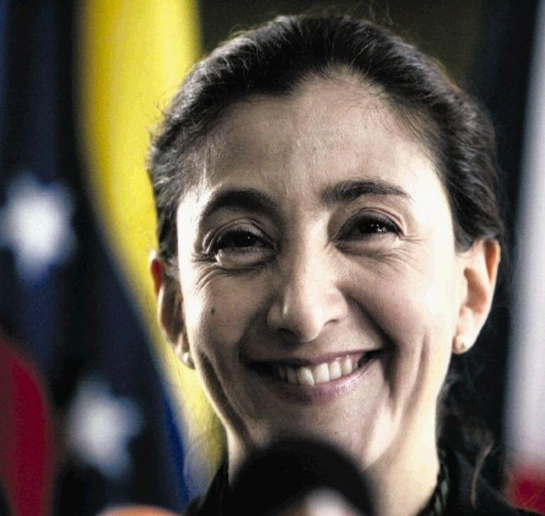 Ingrid Betancourt genoot na haar bevrijding in juli vorig jaar een heldenstatus. (FOTO AP) Beeld