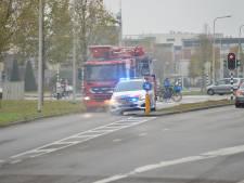 Politieauto rijdt tegen paaltje bij brandmelding in Breda, brand blijkt uitstoot kachel