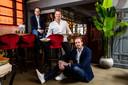 Het team van St. Maxime. Vlnr eigenaar Paul Klösters, chef-kok Martijn Oltvoort en bedrijfsleider Marijn Lantink.