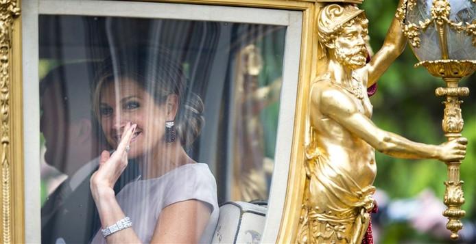Koningin Maximá in de Gouden Koets.