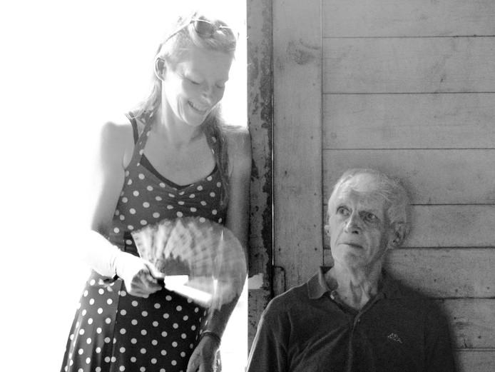 Sandra Stuvenfolt (1968-2018) en vader Bennie Stuvenfolt  (1938-2018) uit Oldenzaal.