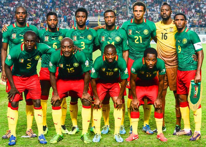 Eto'o als aanvoerder tijdens het WK 2014