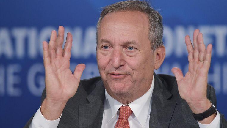 De Amerikaanse hoogleraar Larry Summers. Voorheen was hij minister van Financiën onder Clinton, voormalig hoofdeconoom van de Wereldbank en president van Harvard. Beeld null