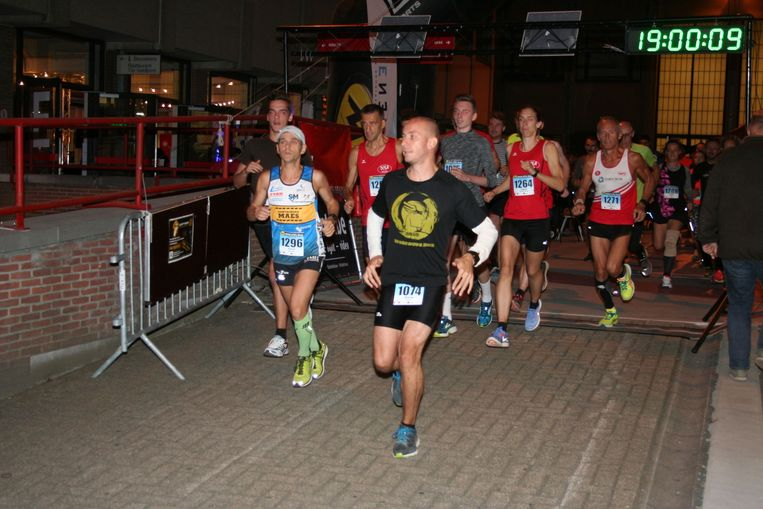 Bij de start van de City run