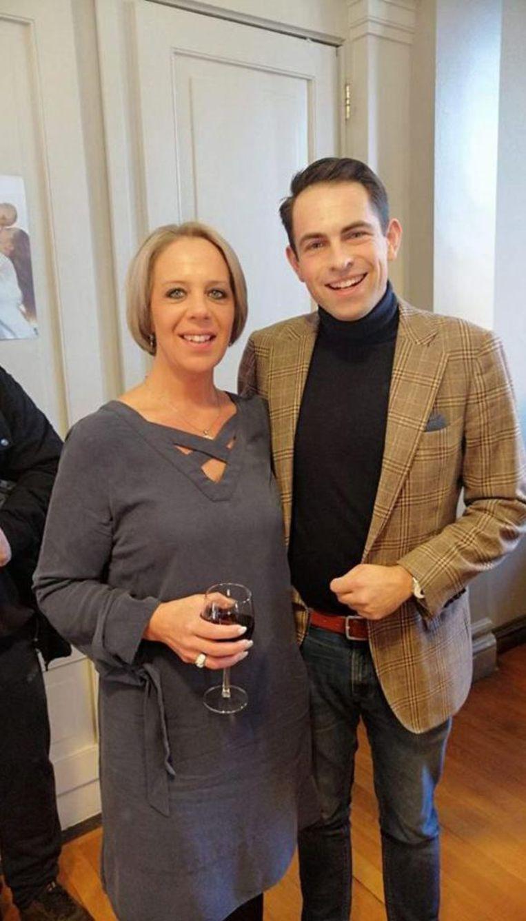 Katrina Langlet met Tom Van Grieken.