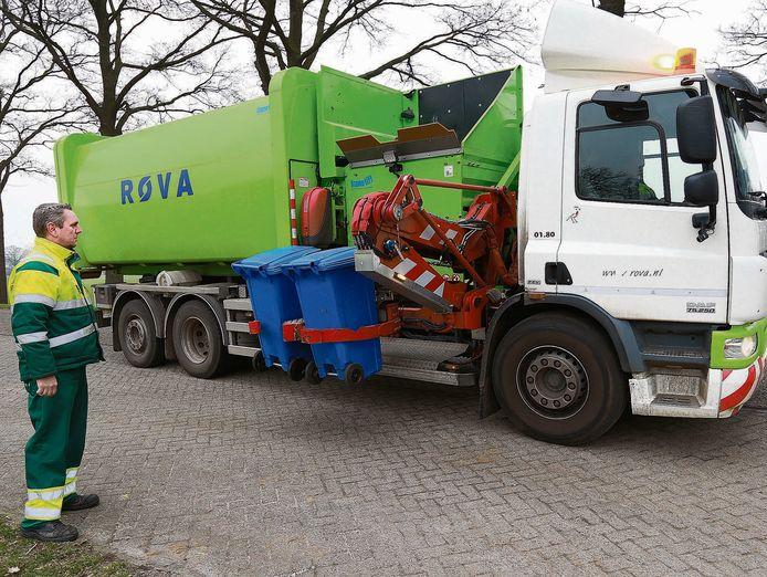 Afvalinzamelaar ROVA blijft vooralsnog het afval in Twenterand ophalen.
