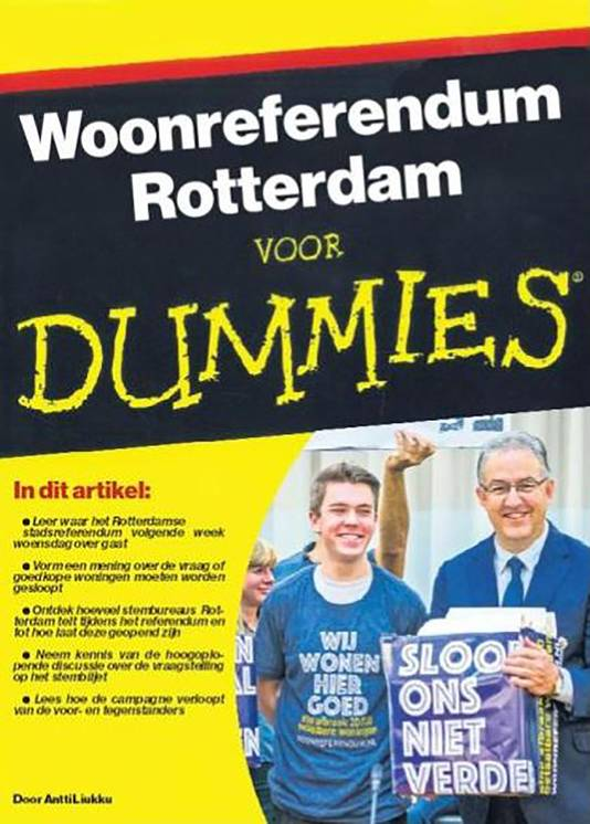 Het Woonreferendum voor dummies.