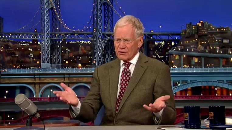 David Letterman kondigt zijn pensioen aan. Beeld CBS/YouTube