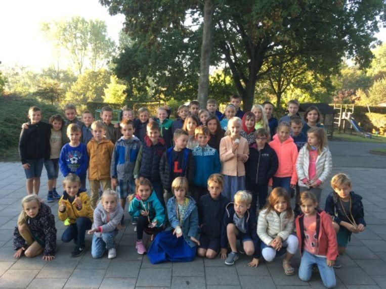 Heel wat leerlingen namen deel aan de veldloop.