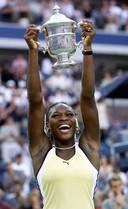 Serena Williams na winst van de US Open, in 1999.
