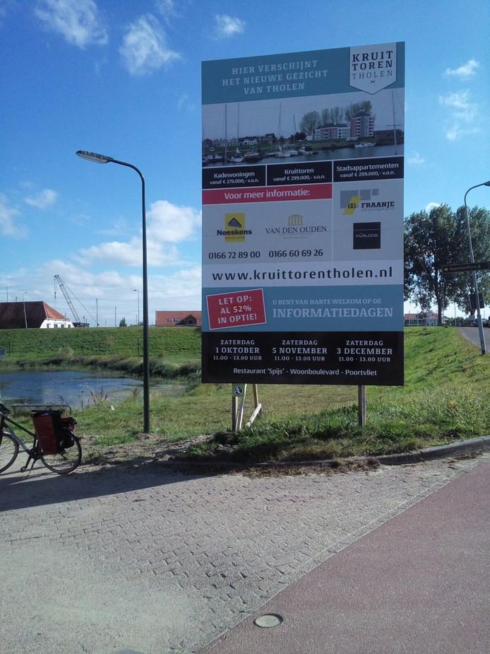 Op meer dan de helft van de appartementen in de nieuw te bouwen Kruittoren in Tholen is al een optie genomen. De bouw kan pas beginnen als het bestemmingsplan is goedgekeurd. Foto: Majda Ouhajji