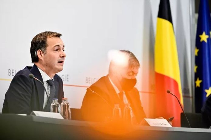 Alexander De Croo lors de la précédente conférence de presse