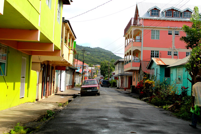 Dominica voordat Maria over het eiland raasde.