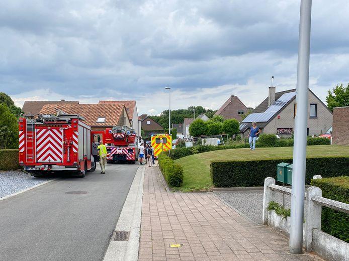 Het incident deed zich voor in de Keerstraat aan een gebouw dat van de straatkant verwijderd staat.