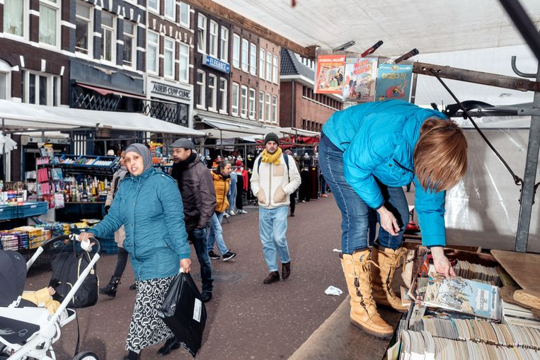 straatbeeld Albert Cuyp Beeld Jakob Van Vliet