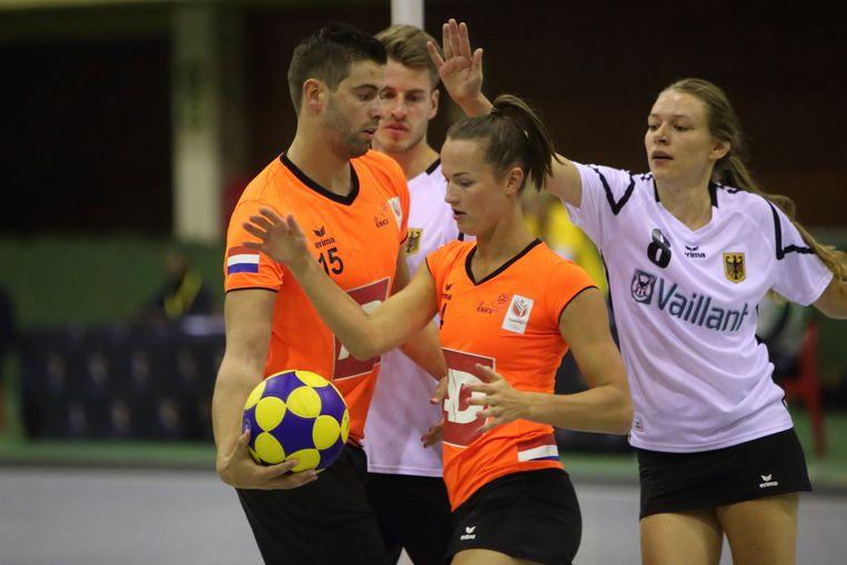 Marjolijn Kroon neemt afscheid van TeamNL Korfbal.  Beeld Marco Spelten