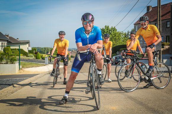 Peter Croonen op de fiets.