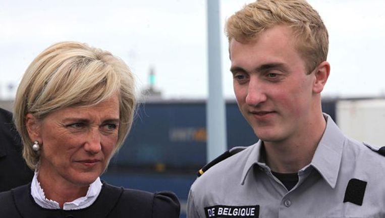 Prinses Astrid en haar zoon Joachim. Het koningshuis heeft nog niet gereageerd op de geruchten van een verloving.