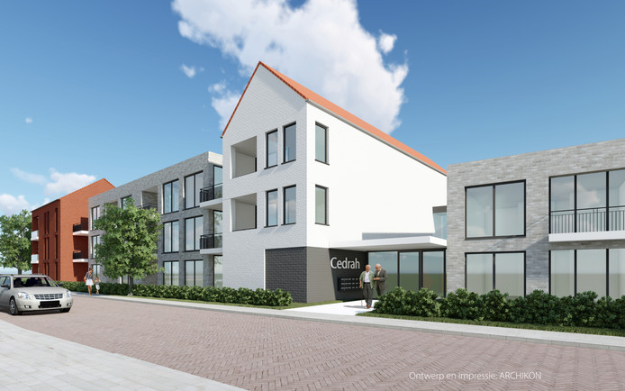Zo moet het nieuwe woon-zorgcomplex van Cedrah aan de Molenlaan er uit gaan zien. Het komt op de plek van het voormalige bejaardenhuis Vredelust in Yerseke.