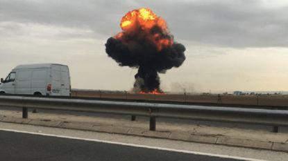 Spaans gevechtsvliegtuig crasht nabij Madrid