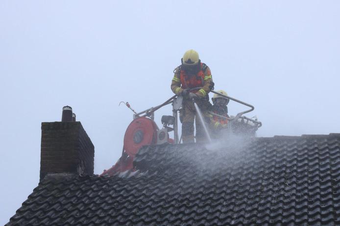 Het dak liep forse schade op