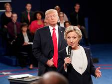Clinton kreeg de kriebels van 'creep' Trump tijdens debat