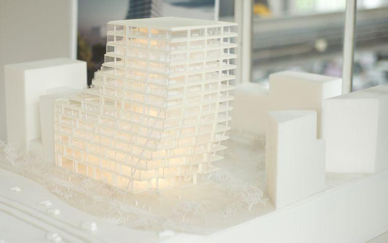 Het ontwerp van Bjarke Ingels. Beeld Michiel Van Nieuwkerk