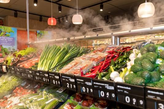 Dry misting wordt in meer dan vijfhonderd winkels van Albert Heijn toegepast.