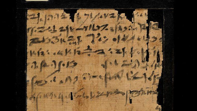 Fragment van Papyrus Louvre E 7852, een landpacht uit de 7e eeuw voor Chr.: eindelijk gelezen na meer dan 2500 jaar. Beeld .