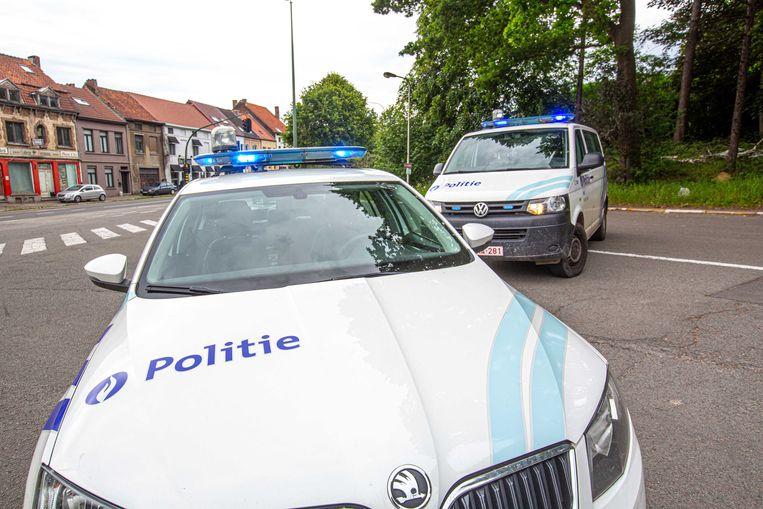 Lokale politie illustratiebeeld illustratief combi