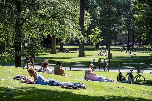 Het Valkenberg, verreweg het populairste park van Breda.