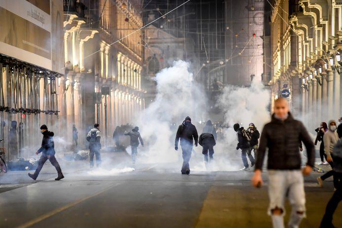 Protest in Turijn.