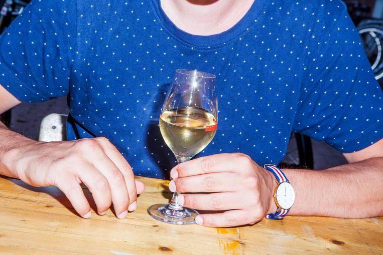 De witte wijn van Bar Centraal. Beeld Marie Wanders