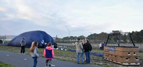 Reeshof in Tilburg schrikt: luchtballon maakt voorzorgslanding vlakbij wijk