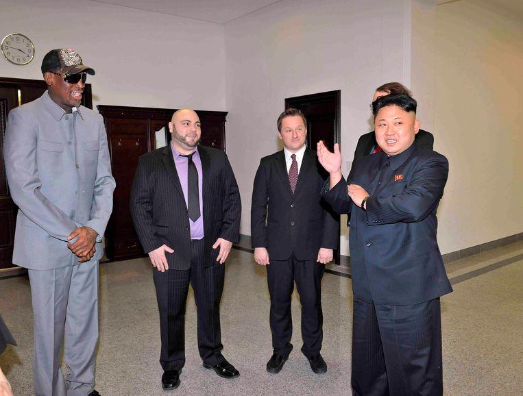 Dennis Rodman, dikke vriendjes met Kim Jong-un.