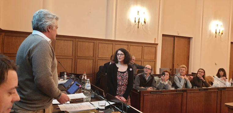 Aline De Greef legde de eed af bij burgemeester Pierre Rolin (IC-GB) tijdens de gemeenteraad.