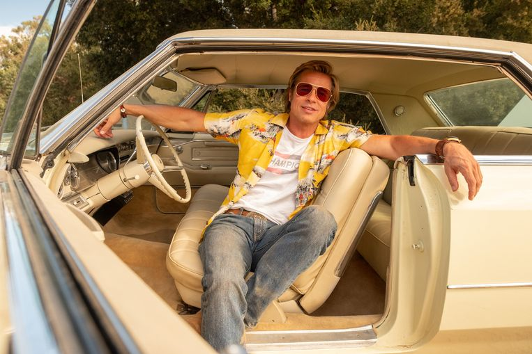 Brad Pitt als stuntman Cliff Booth in Once Upon a Time in... Hollywood Beeld null